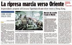 Corriere Adriatico: La Ripresa Marcia verso Oriente